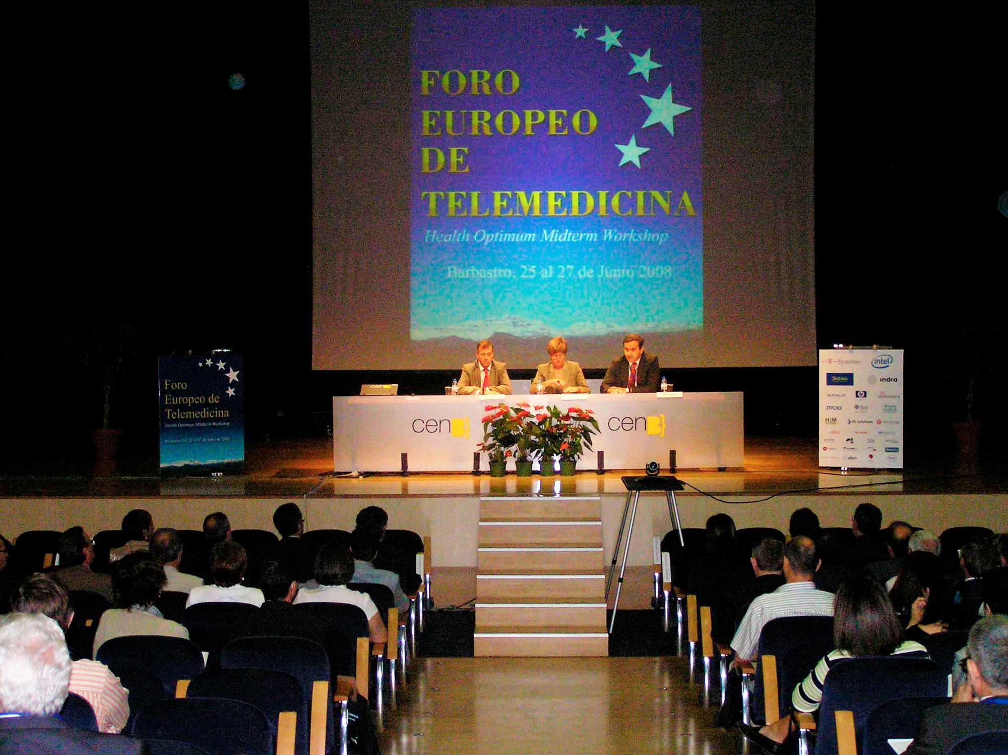 CONGRESOS-BARBASTRO_Inauguracion_Foro_Europeo_de_Telemedicina